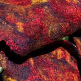 Echarpe Fleurs de laine nuance Ibérique
